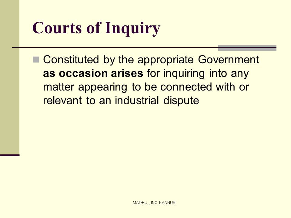 Courts of Inquiry