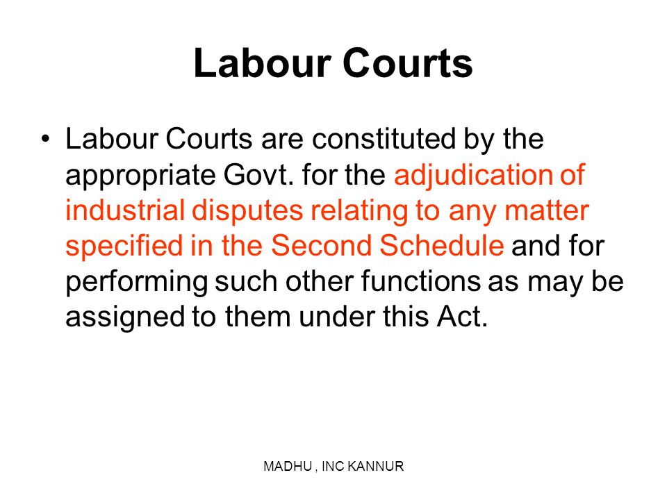 Labour Courts