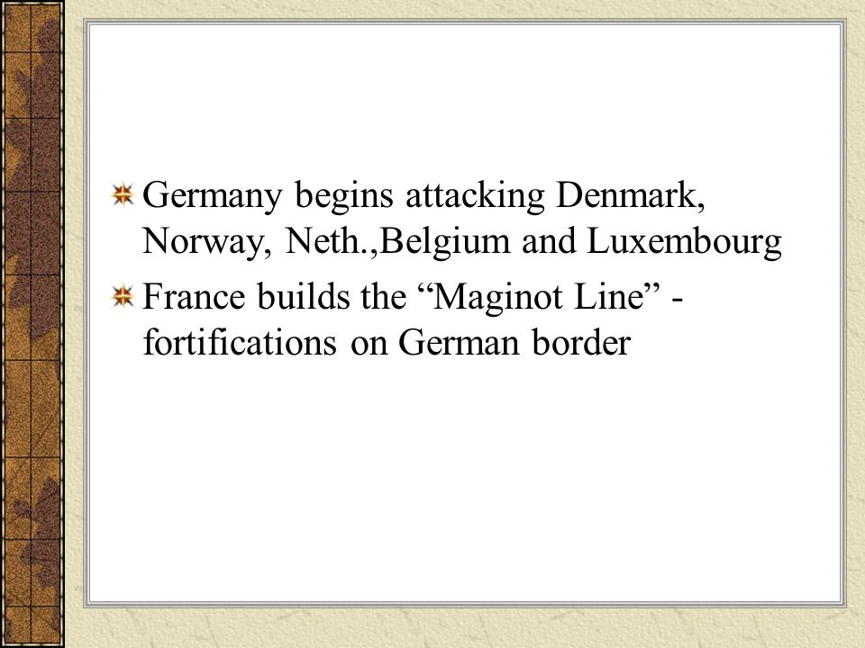 Germany begins attacking Denmark, Norway, Neth.,Belgium and Luxembourg