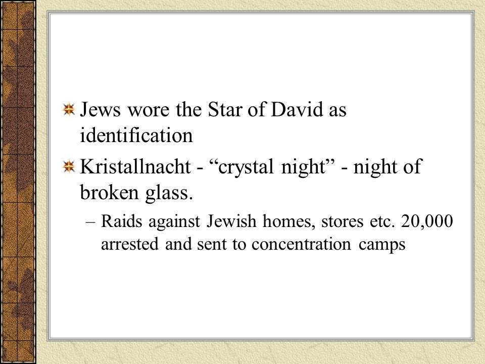 Jews wore the Star of David as identification