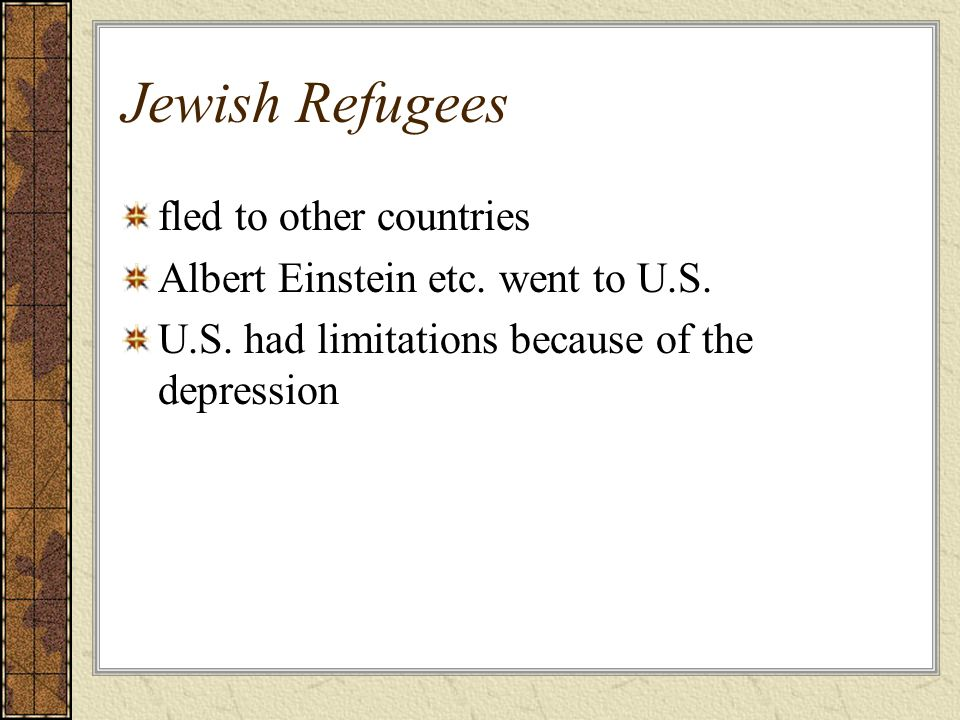 Jewish Refugees fled to other countries