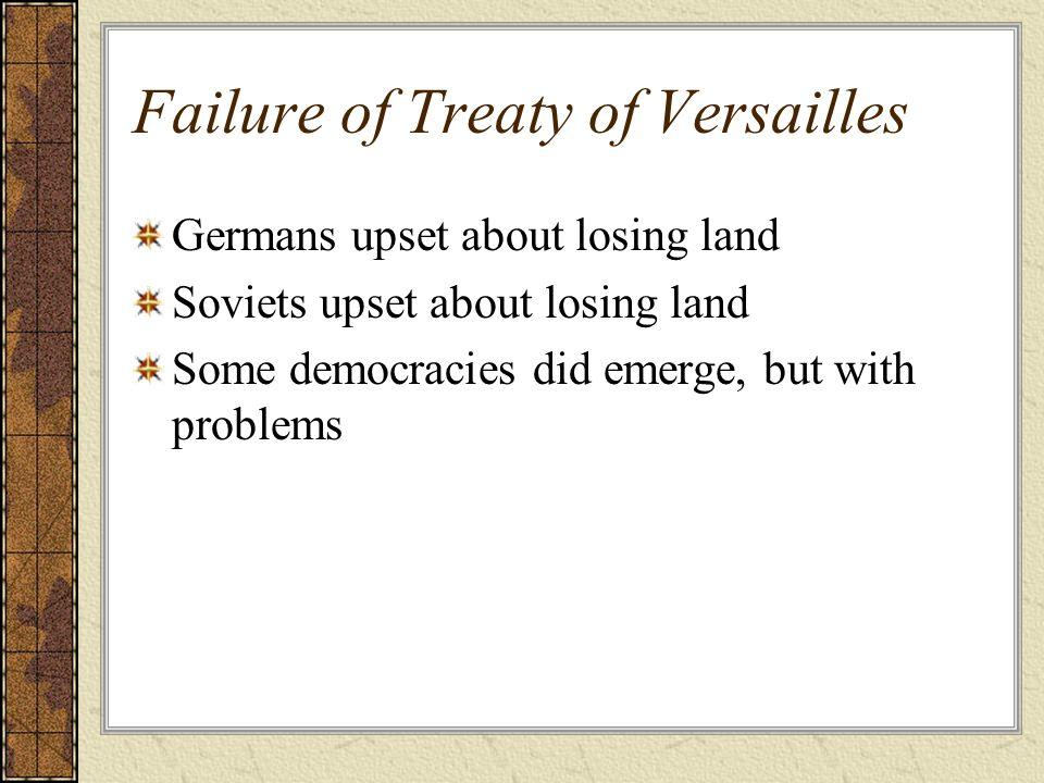 Failure of Treaty of Versailles