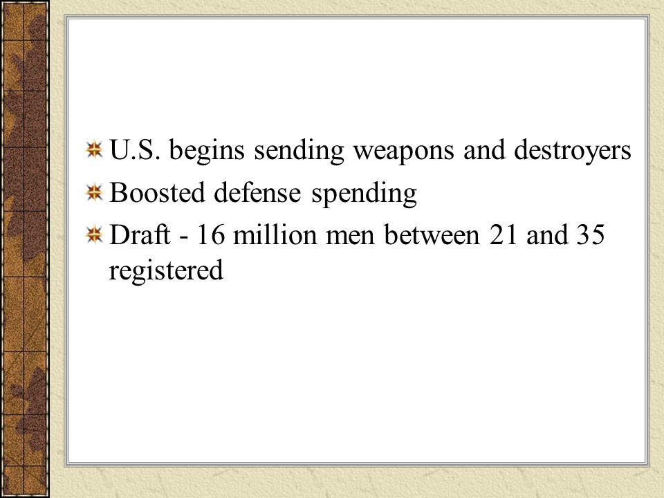 U.S. begins sending weapons and destroyers