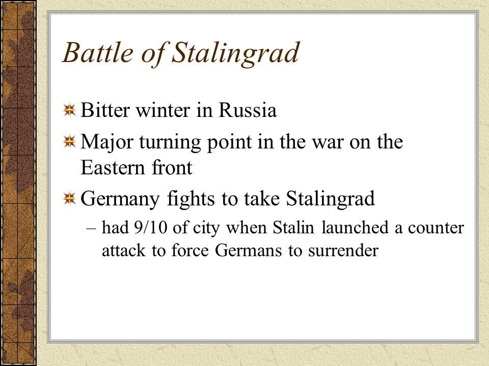 Battle of Stalingrad Bitter winter in Russia