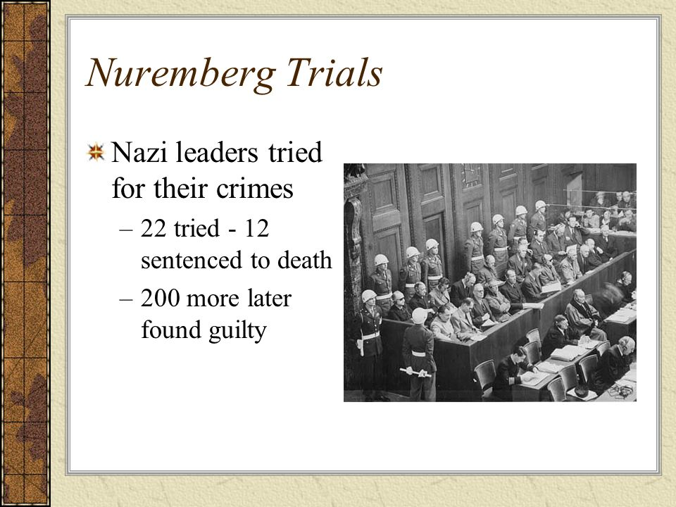 Nuremberg Trials Nazi leaders tried for their crimes
