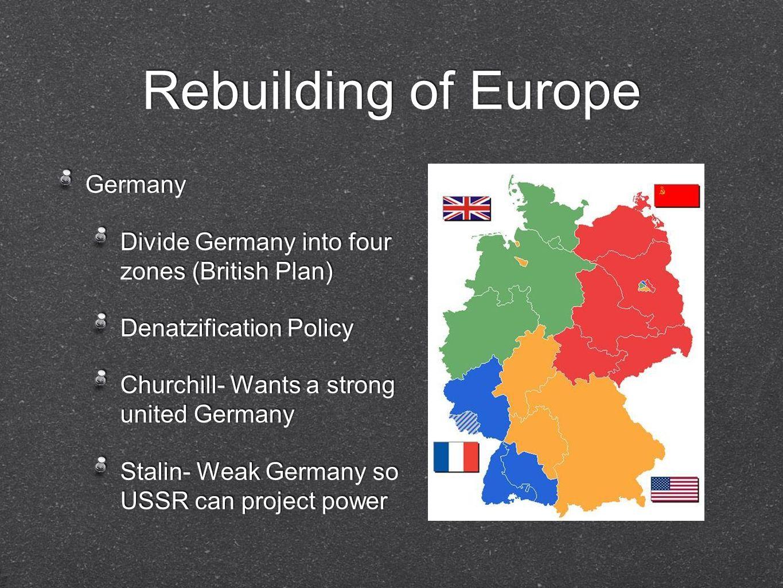 Rebuilding of Europe Germany