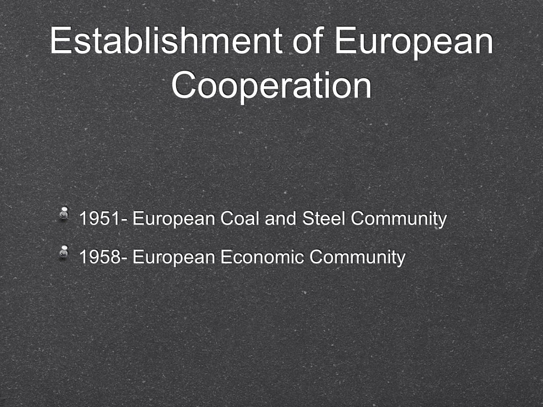 Establishment of European Cooperation