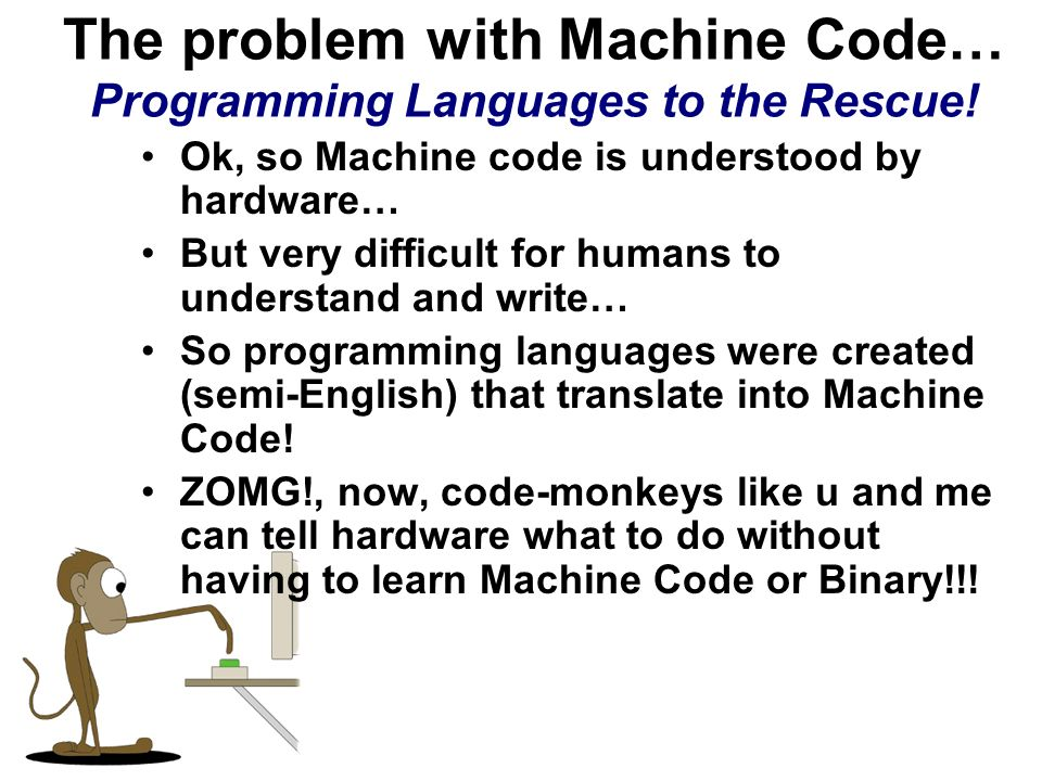 The problem with Machine Code… Programming Languages to the Rescue!