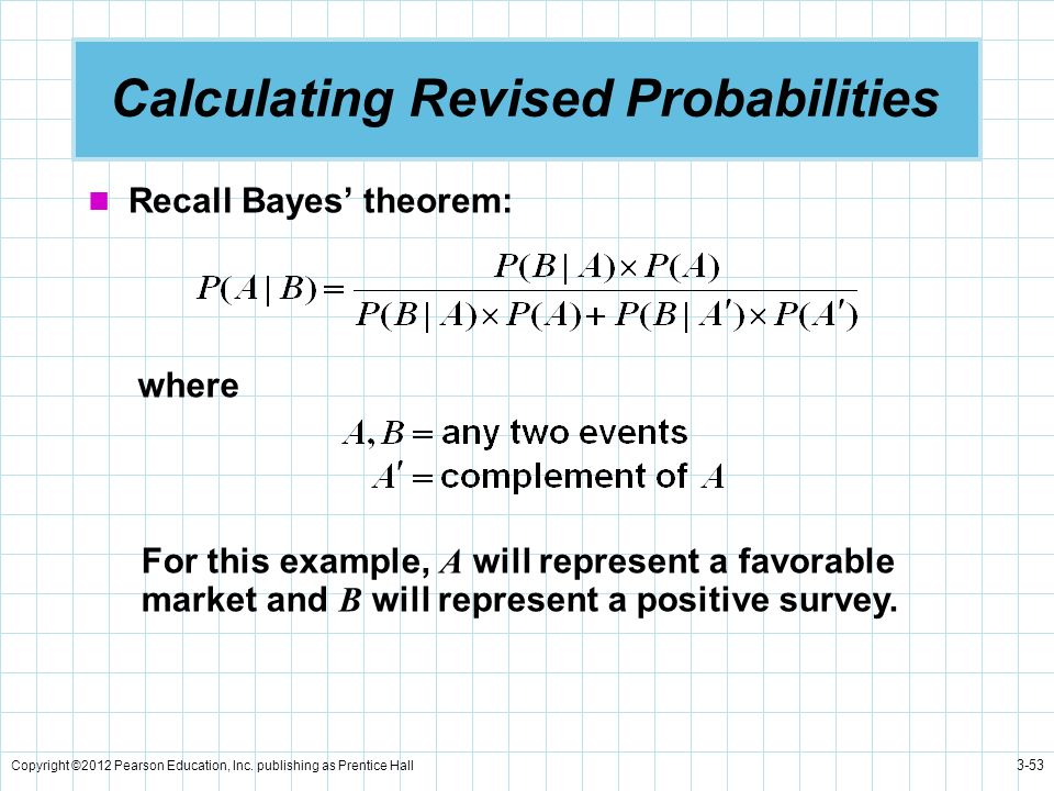 Calculating Revised Probabilities