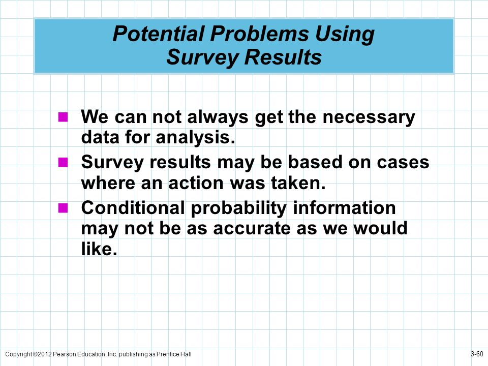 Potential Problems Using Survey Results