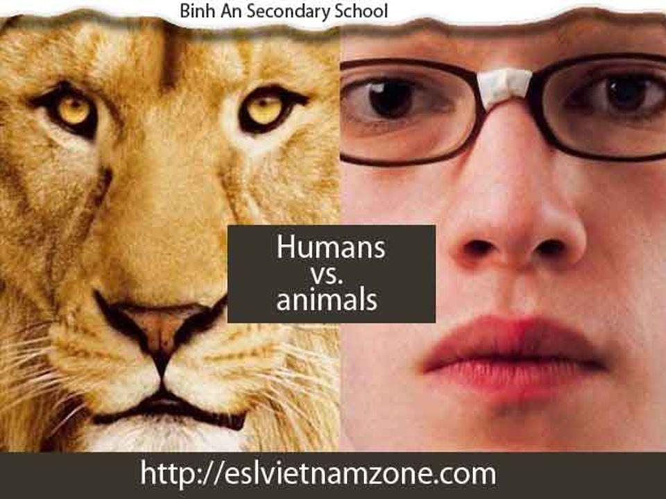 Body parts Humans vs. animals