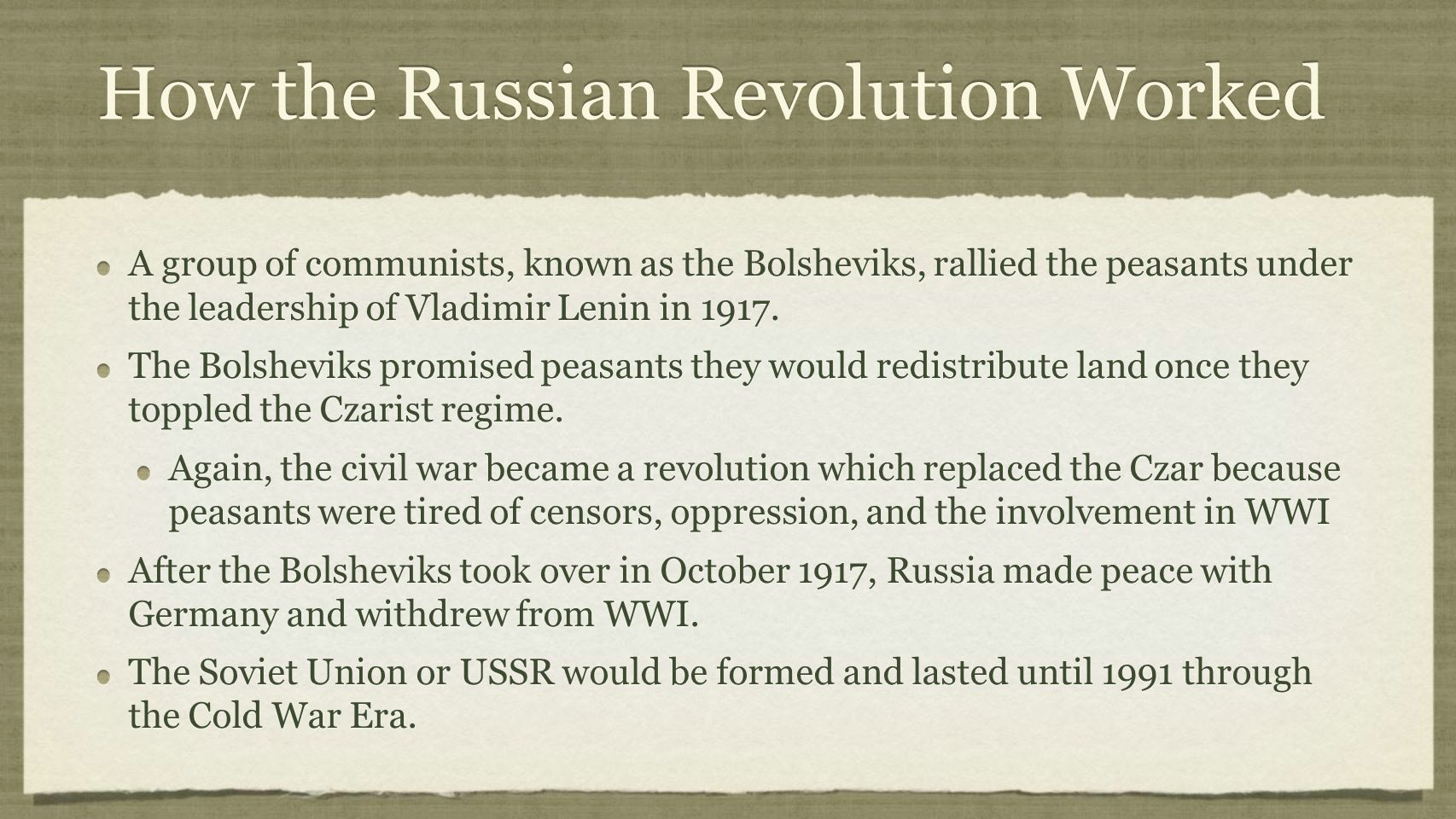 How the Russian Revolution Worked