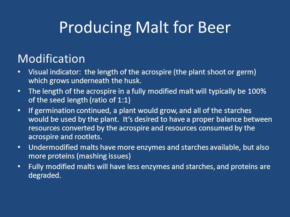 Producing Malt for Beer