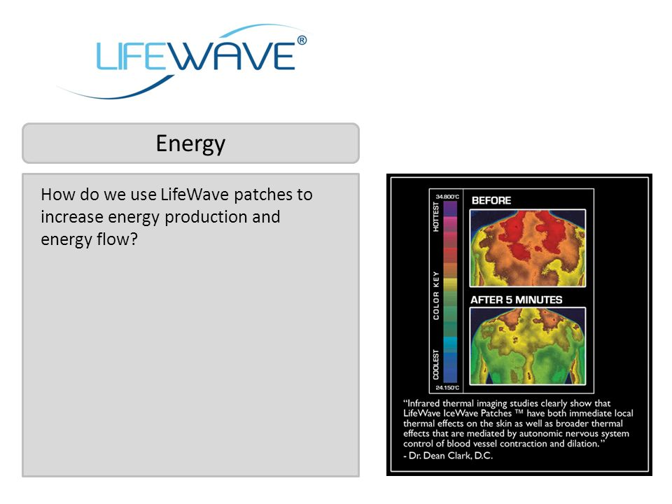 Energy How do we use LifeWave patches to increase energy production and energy flow
