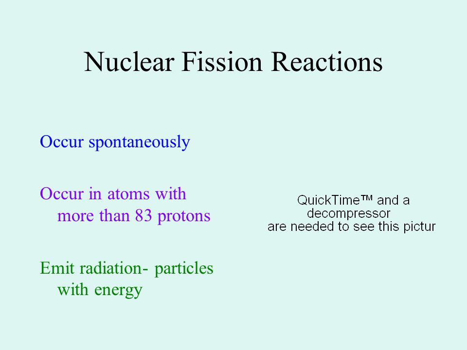 Nuclear Fission Reactions