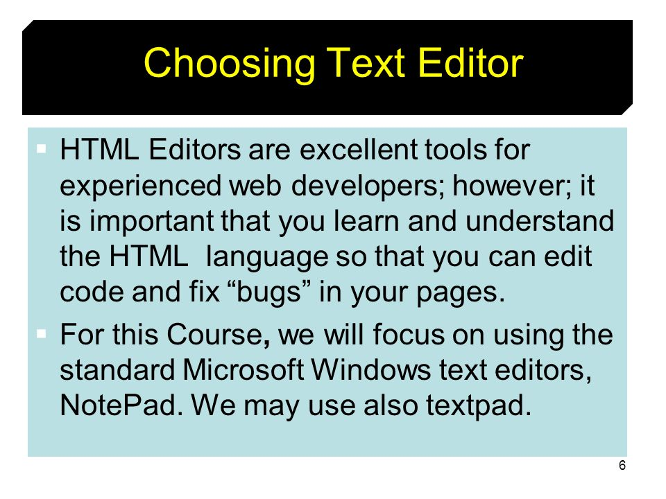 Choosing Text Editor