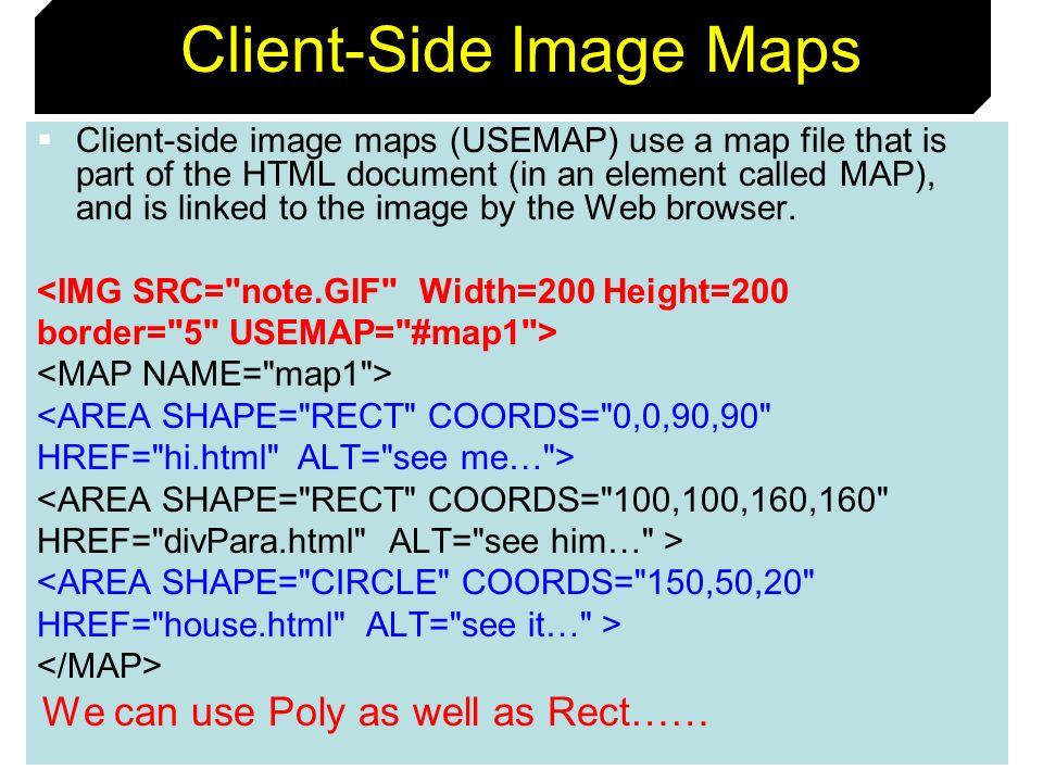 Client-Side Image Maps