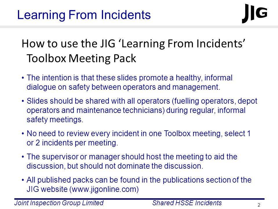 Learning From Incidents