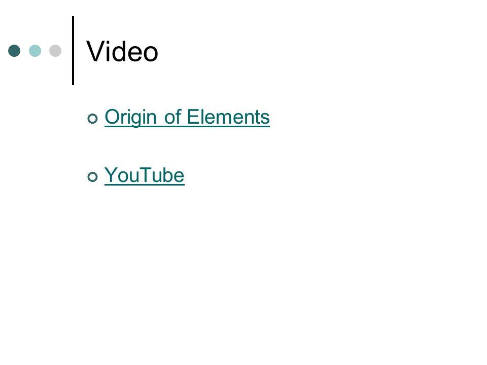 Video Origin of Elements YouTube