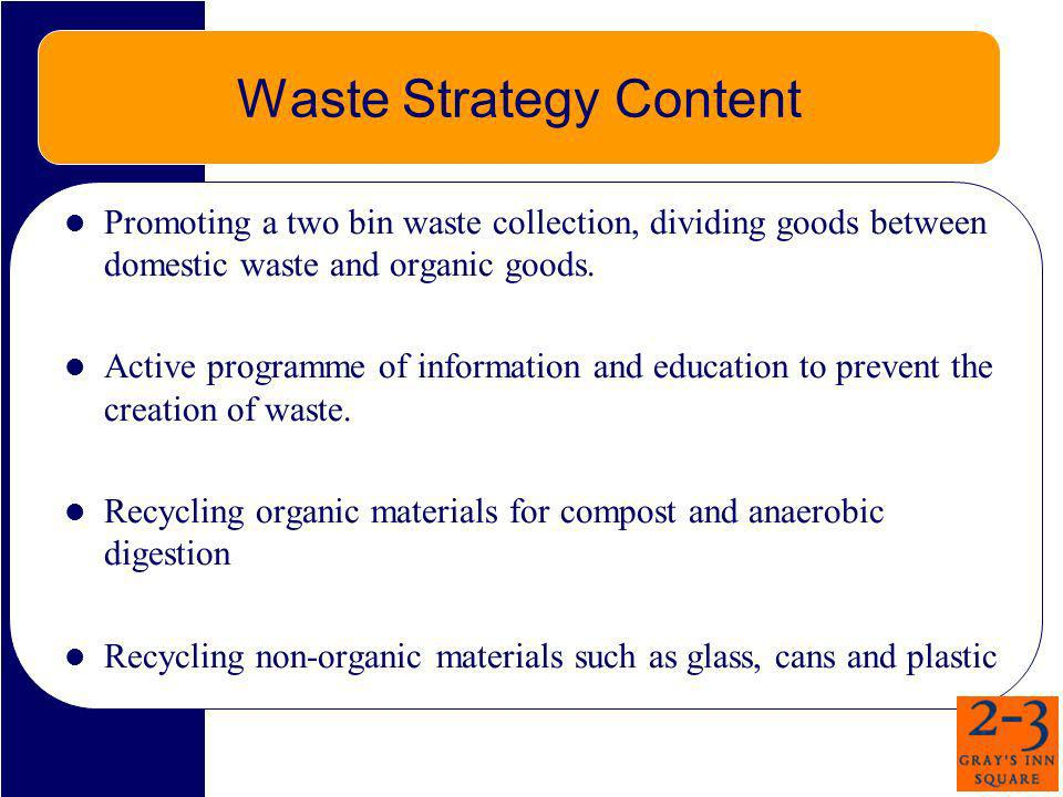 Waste Strategy Content