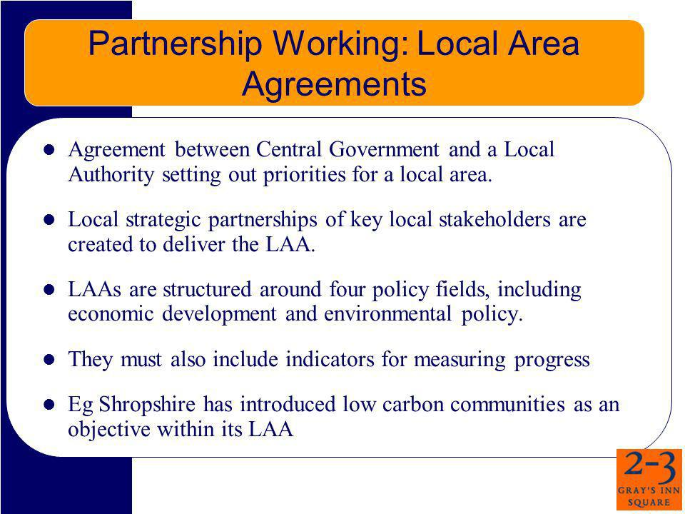 Partnership Working: Local Area Agreements