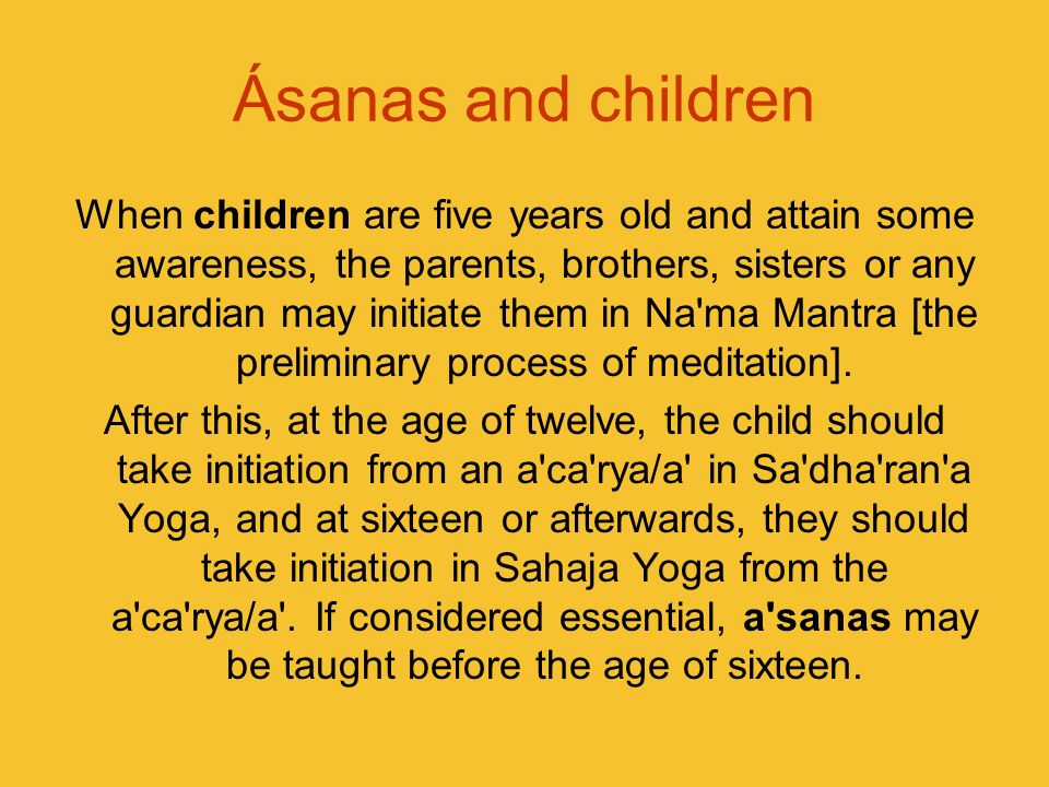 Ásanas and children