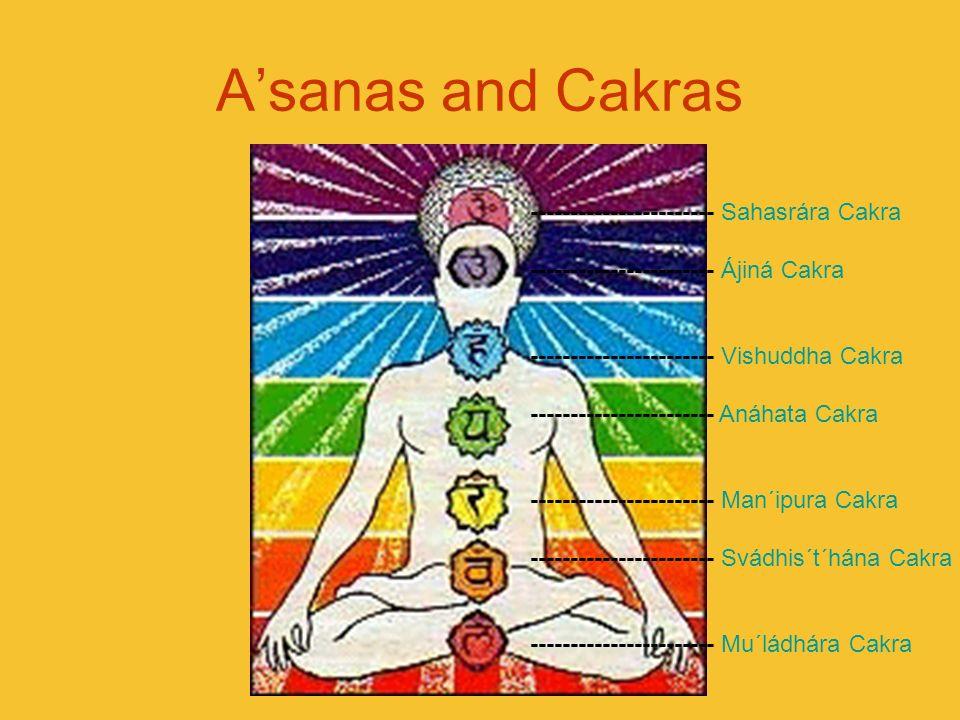 A'sanas and Cakras ----------------------- Sahasrára Cakra