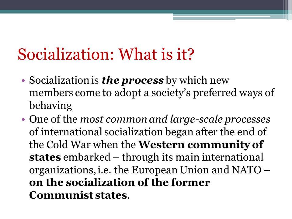 Socialization: What is it