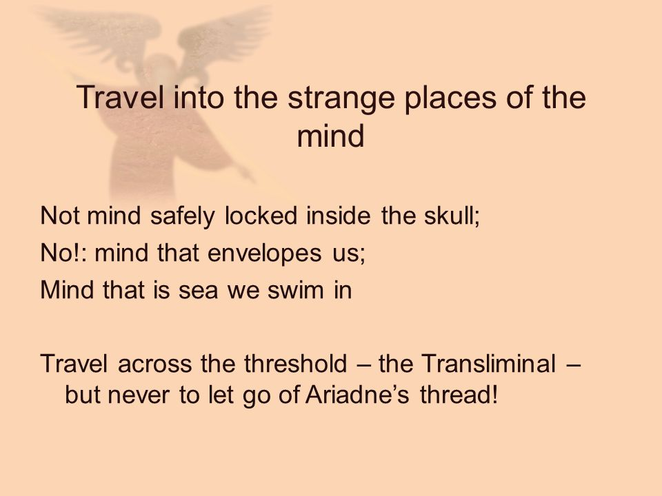 Travel into the strange places of the mind