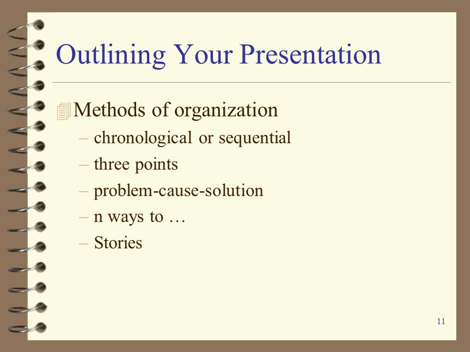 Outlining Your Presentation