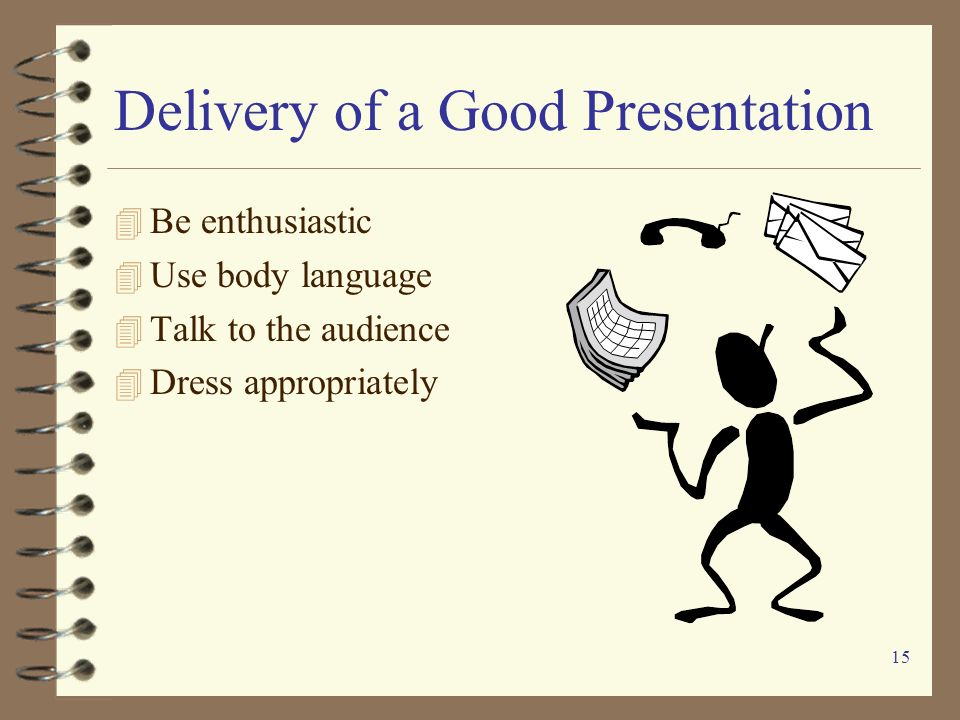 Delivery of a Good Presentation