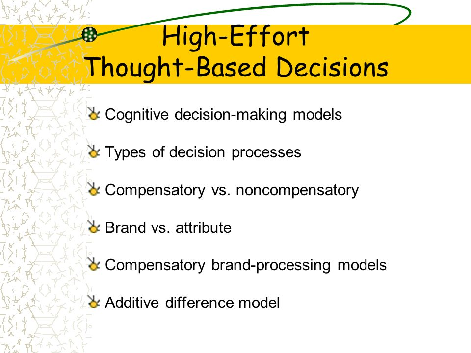 High-Effort Thought-Based Decisions