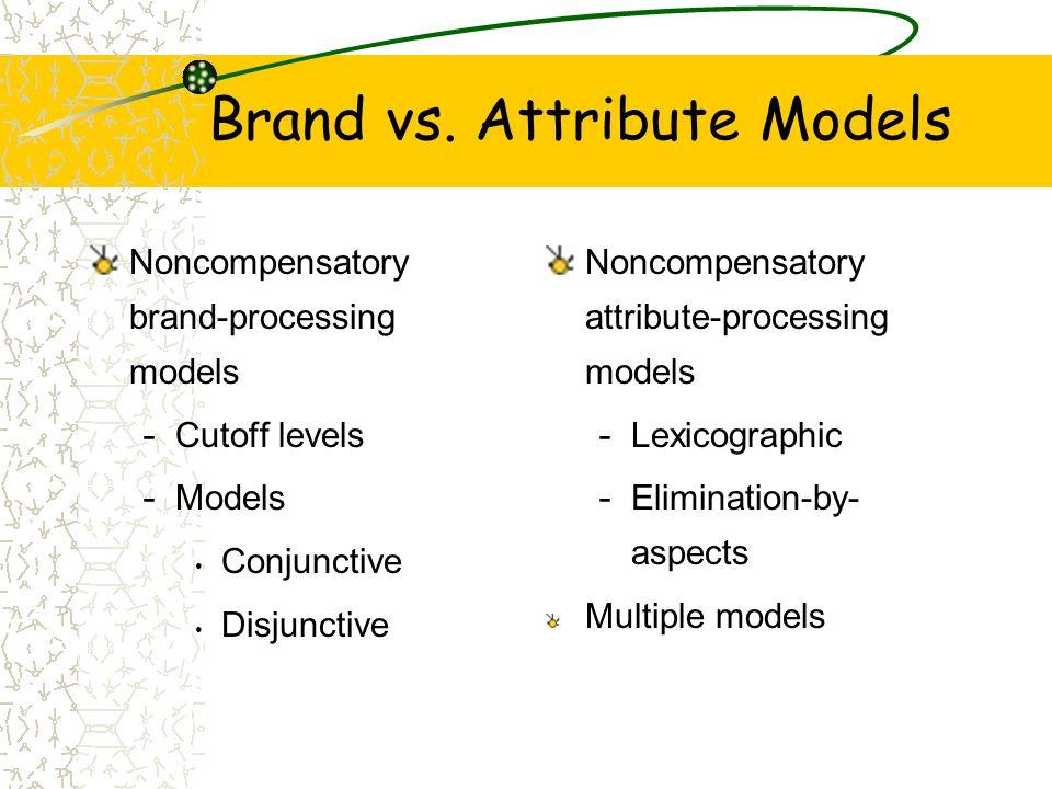 Brand vs. Attribute Models