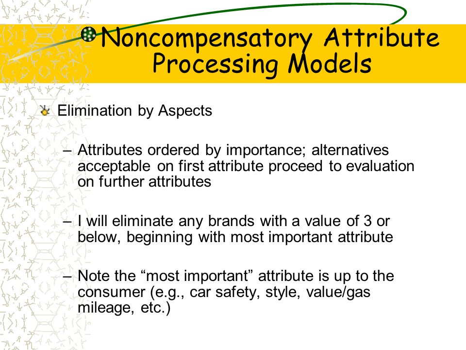 Noncompensatory Attribute Processing Models