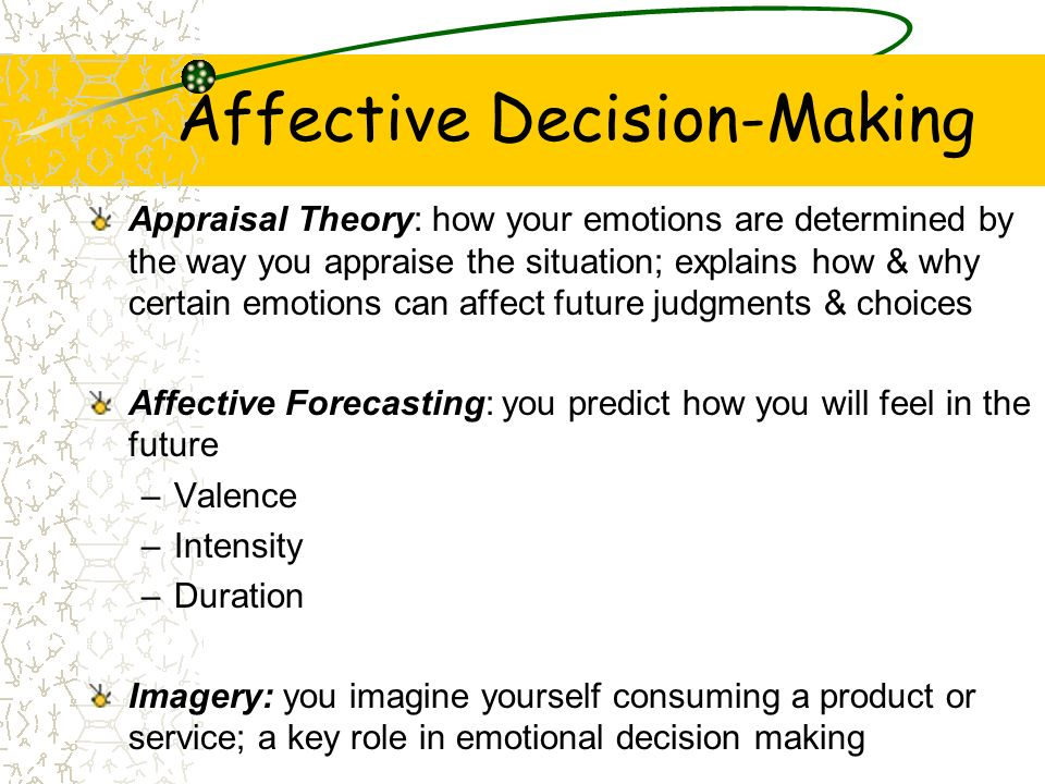 Affective Decision-Making