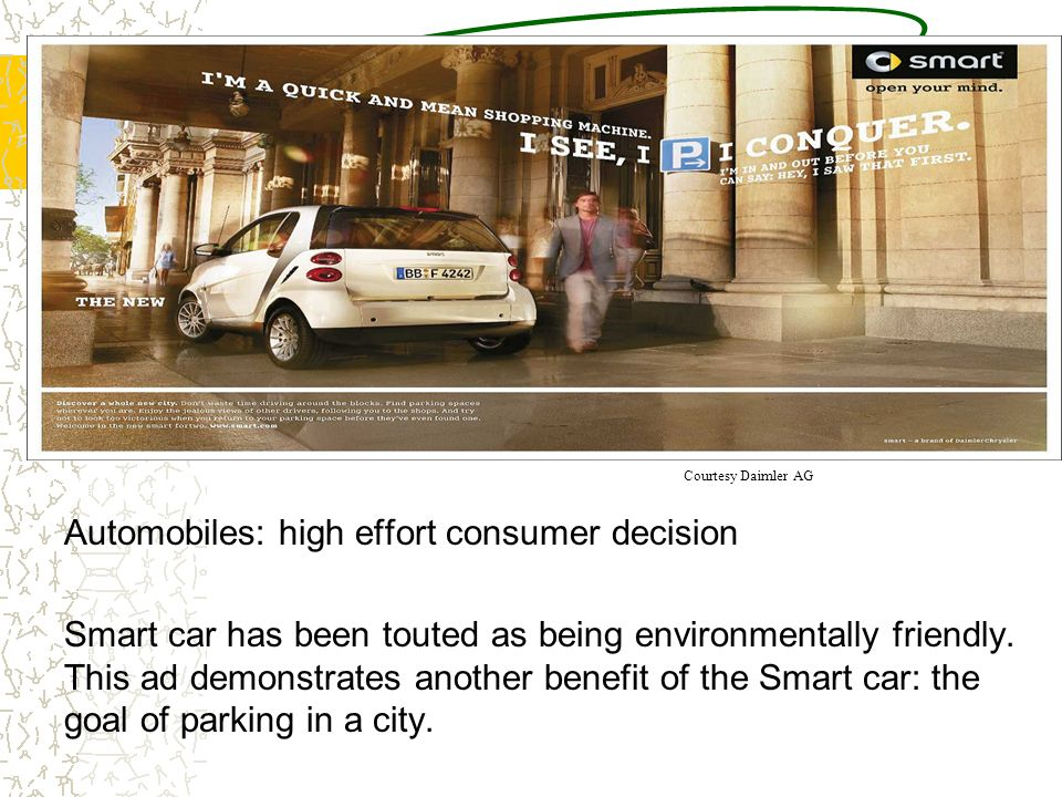 Automobiles: high effort consumer decision