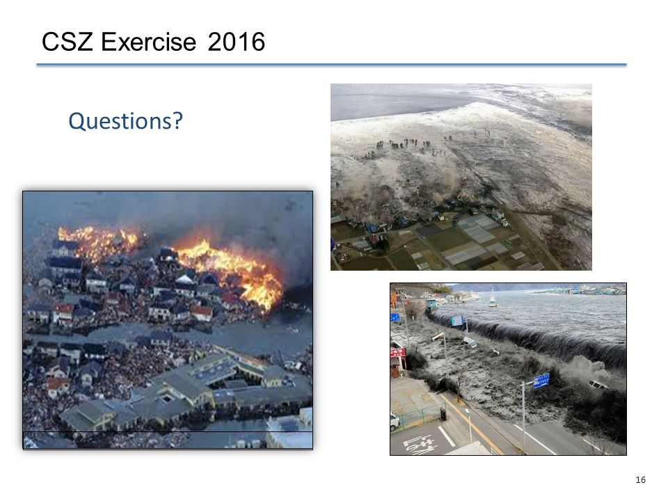 CSZ Exercise 2016 Questions i