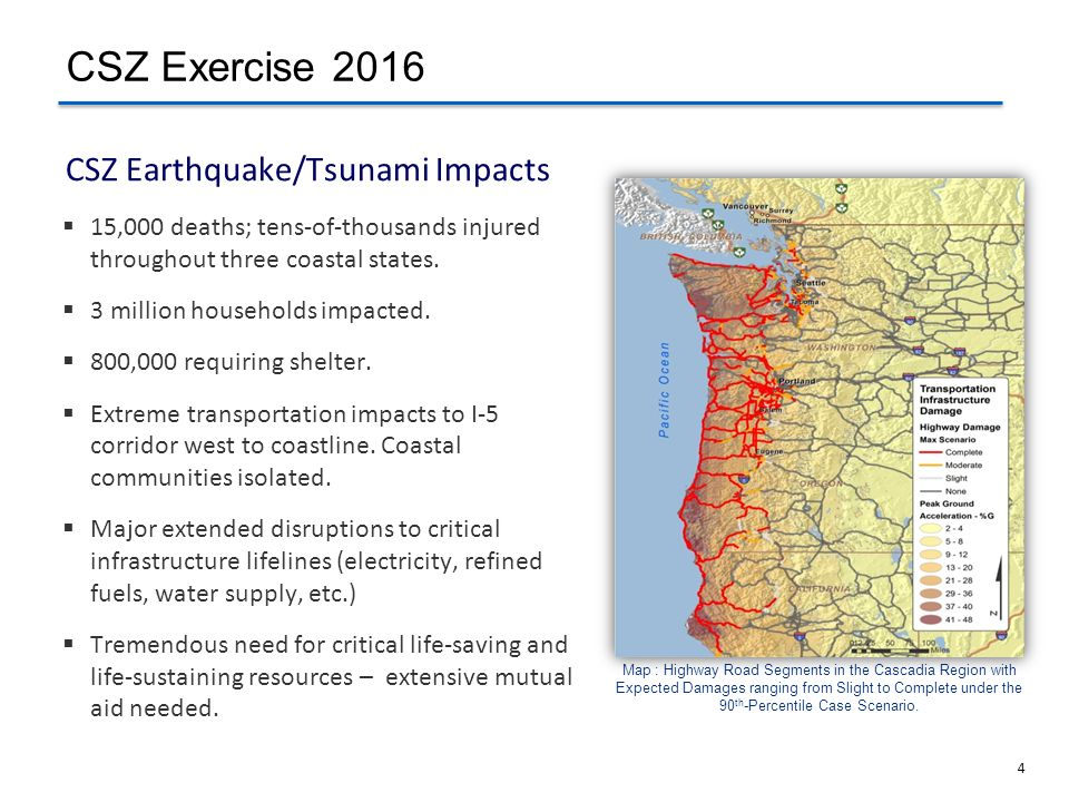 CSZ Earthquake/Tsunami Impacts