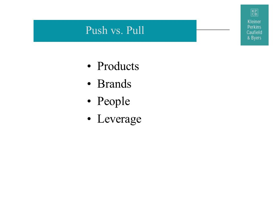 Push vs. Pull Products Brands People Leverage 28