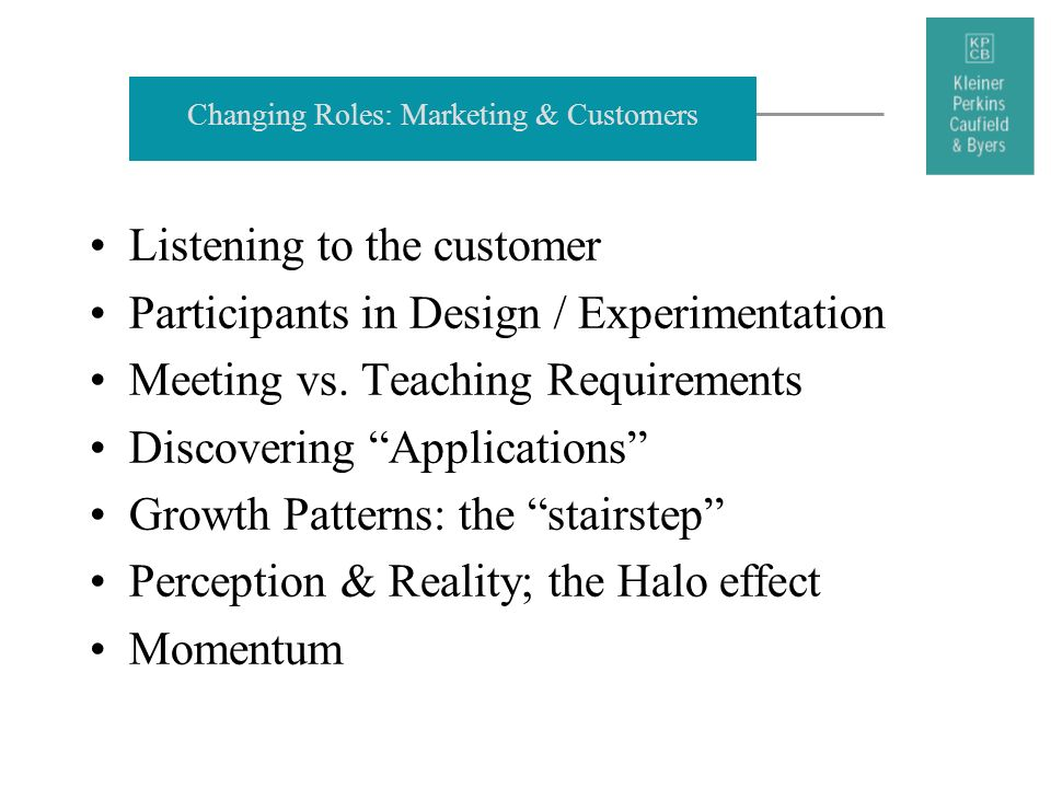 Changing Roles: Marketing & Customers
