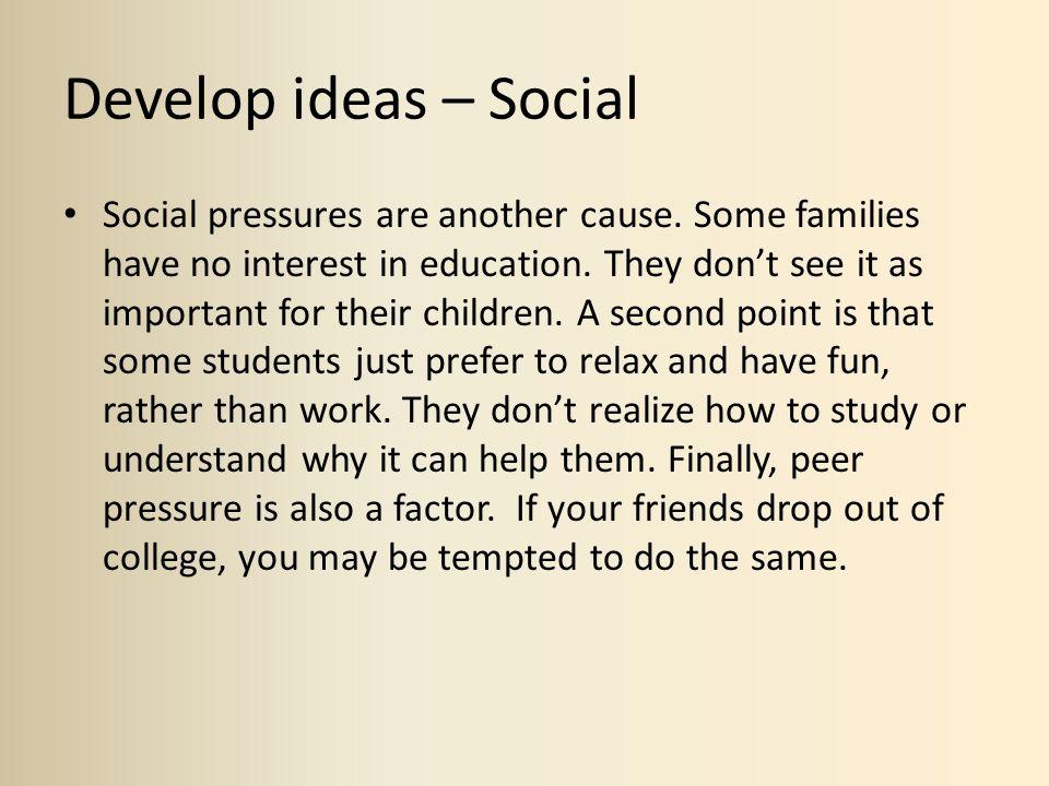 Develop ideas – Social
