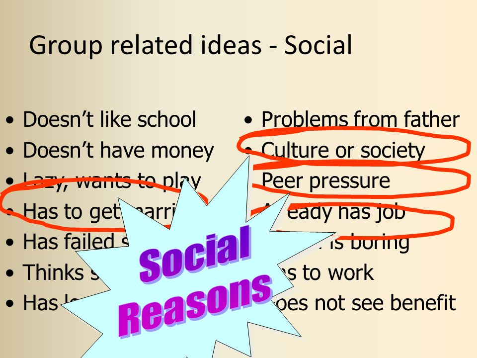 Group related ideas - Social