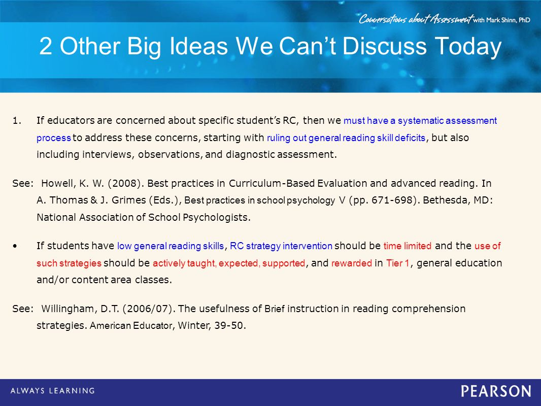 2 Other Big Ideas We Can't Discuss Today