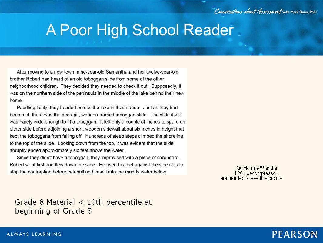 A Poor High School Reader