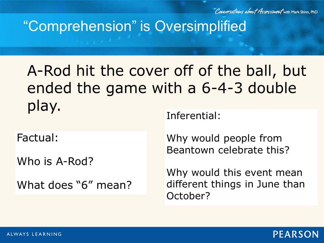 Comprehension is Oversimplified