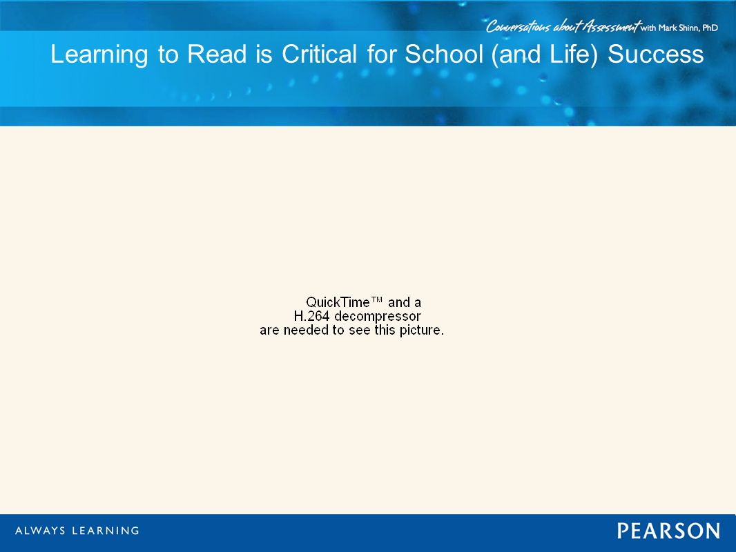 Learning to Read is Critical for School (and Life) Success