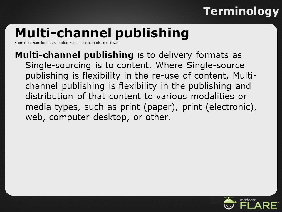 Multi-channel publishing