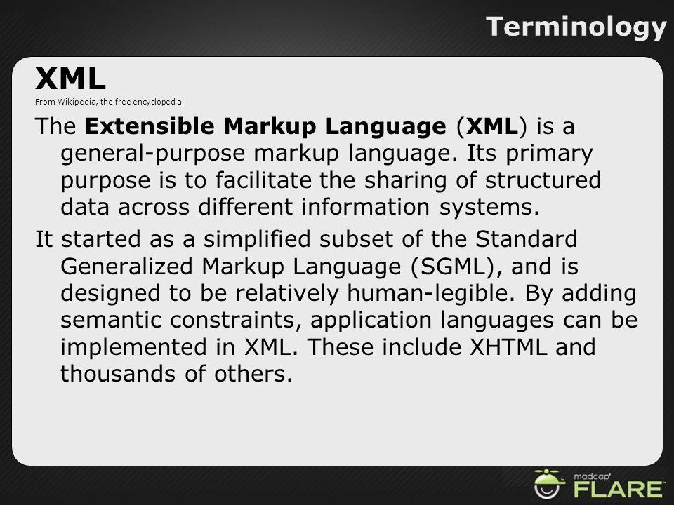 Terminology XML. From Wikipedia, the free encyclopedia.