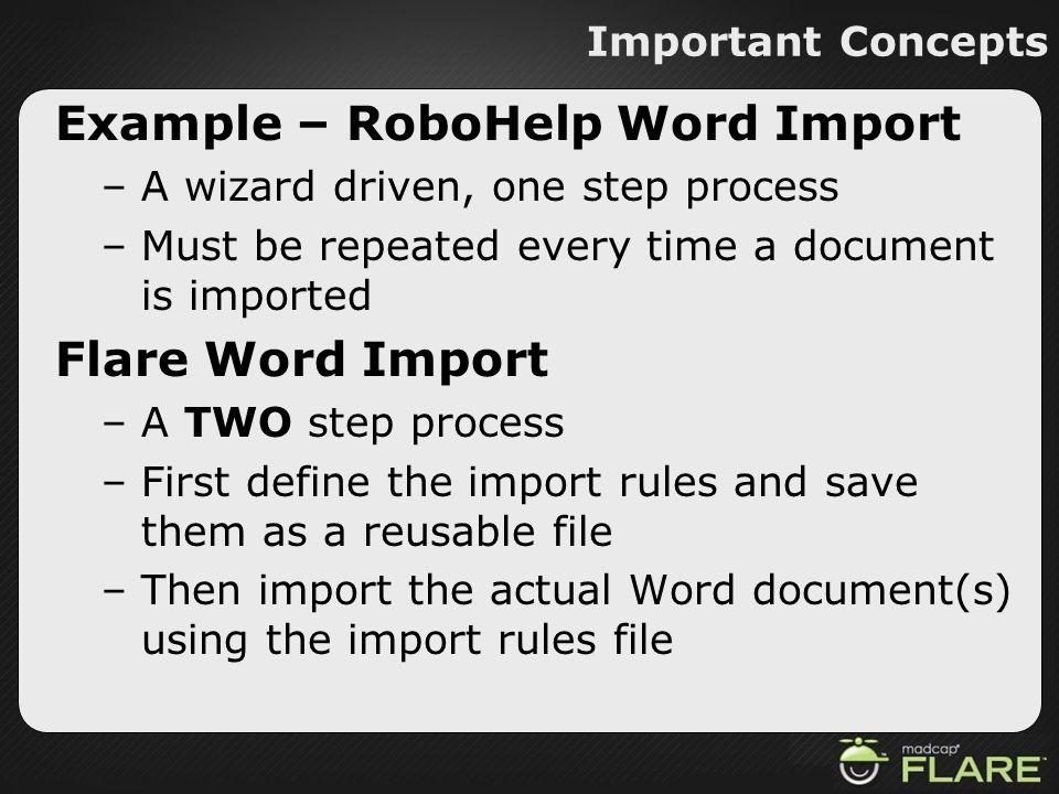 Example – RoboHelp Word Import