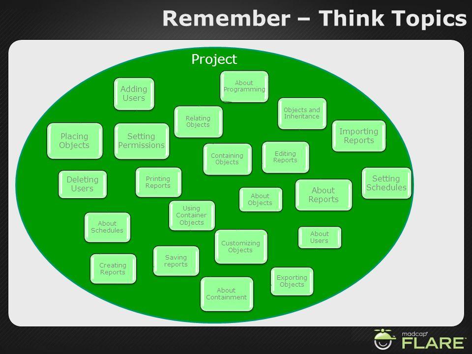 Remember – Think Topics
